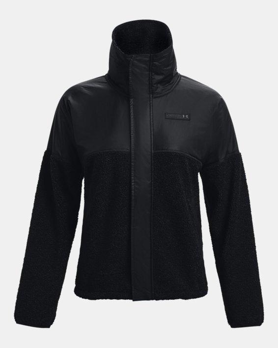 Women's UA Mission Full-Zip Jacket, Black, pdpMainDesktop image number 4