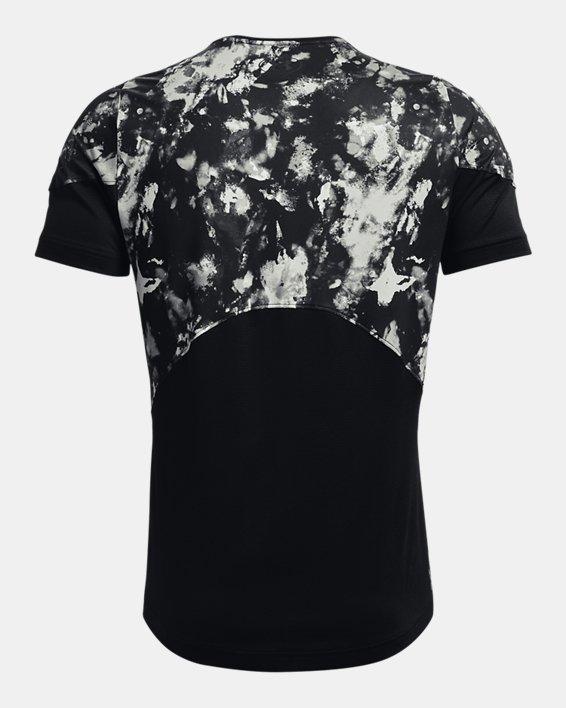 Men's UA RUSH™ HeatGear® 2.0 Print Short Sleeve, Black, pdpMainDesktop image number 5