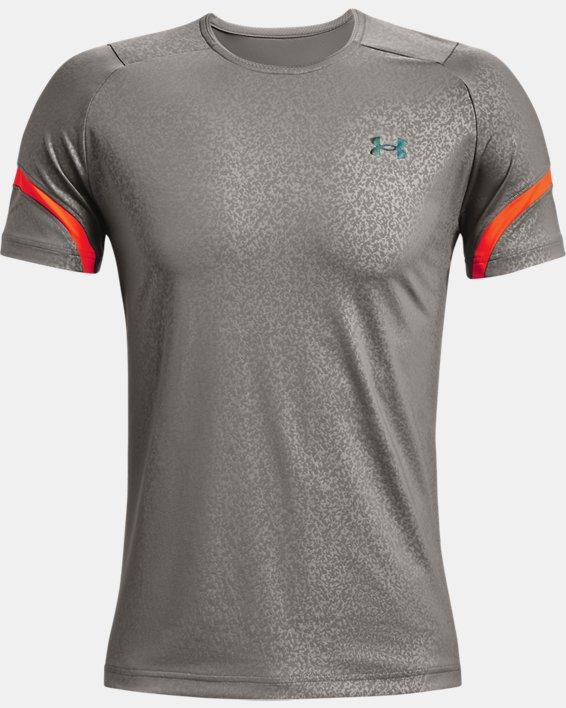 Men's UA RUSH™ HeatGear® 2.0 Emboss Short Sleeve, Gray, pdpMainDesktop image number 4