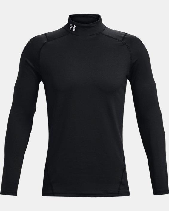 Men's ColdGear® Fitted Mock, Black, pdpMainDesktop image number 5
