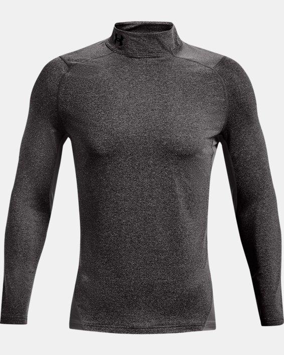 Men's ColdGear® Armour Fitted Mock, Gray, pdpMainDesktop image number 4