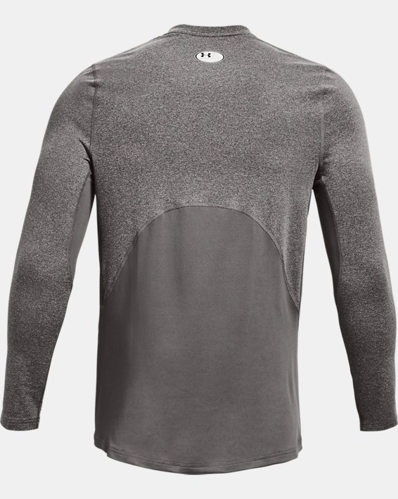 Men's ColdGear® Armour Fitted Crew, Gray, pdpMainDesktop image number 5