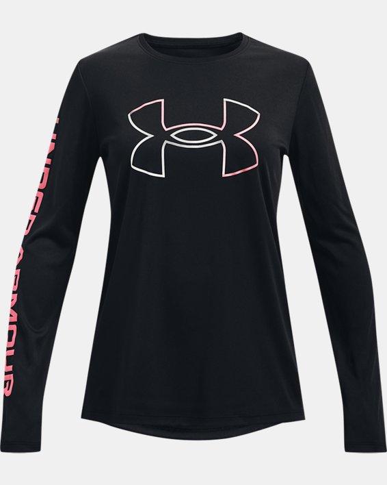 Girls' UA Tech™ Big Logo Long Sleeve, Black, pdpMainDesktop image number 0