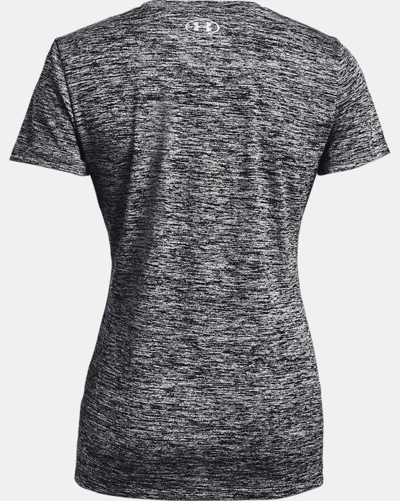 Women's UA Tech™ Twist Logo Short Sleeve, Black, pdpMainDesktop image number 4