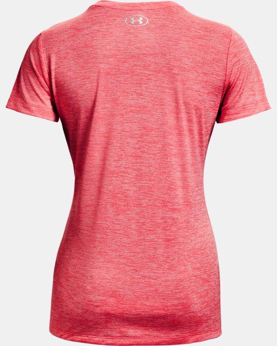 Women's UA Tech™ Twist Logo Short Sleeve, Pink, pdpMainDesktop image number 5