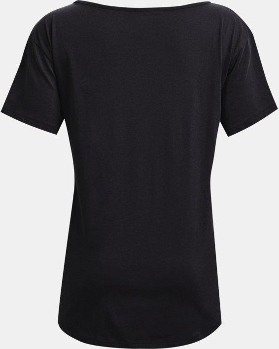 Women's UA Oversized Wordmark Graphic T-Shirt, Black, pdpMainDesktop image number 5