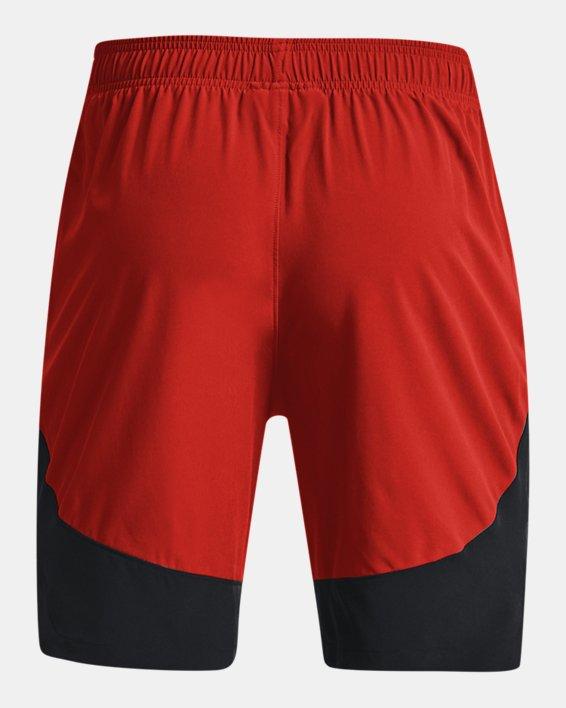 Men's UA HIIT Woven Colorblock Shorts, Orange, pdpMainDesktop image number 8