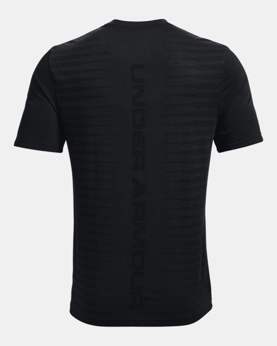 Men's UA Seamless Wordmark Short Sleeve, Black, pdpMainDesktop image number 5