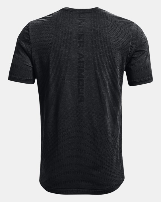 Men's UA RUSH™ HeatGear® Seamless Illusion Short Sleeve, Black, pdpMainDesktop image number 5