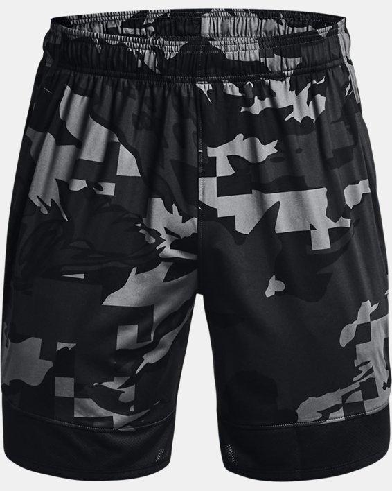 "Men's UA Stretch Train 7"" Camo Shorts, Gray, pdpMainDesktop image number 4"