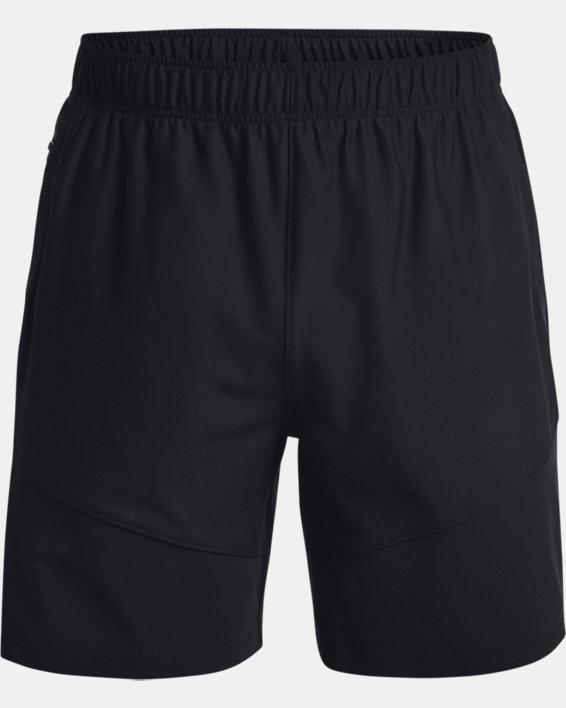 Men's UA Knit Woven Hybrid Shorts, Black, pdpMainDesktop image number 3