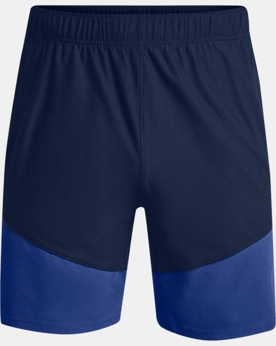 Men's UA Knit Woven Hybrid Shorts, Navy, pdpMainDesktop image number 4
