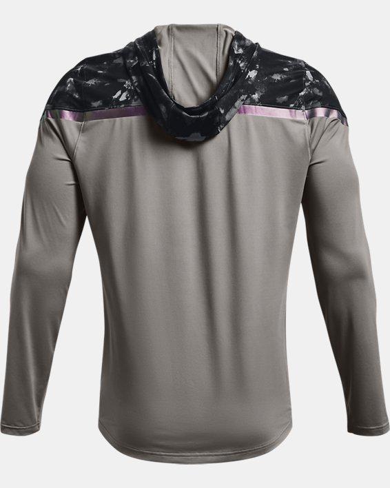 Men's UA RUSH™ HeatGear® Printed Full-Zip Hoodie, Gray, pdpMainDesktop image number 6