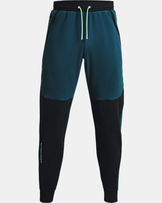 Men's UA RUSH™ Fleece Pants, Blue, pdpMainDesktop image number 7