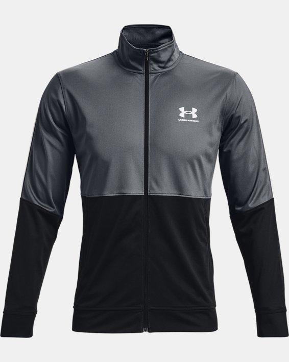 Men's UA Pique Track Jacket, Gray, pdpMainDesktop image number 3
