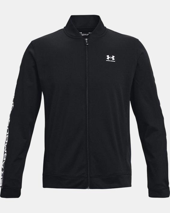 Men's UA Tricot Jacket, Black, pdpMainDesktop image number 4