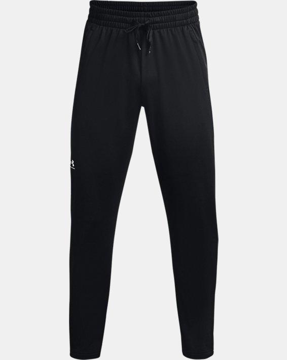 Men's UA Tricot Track Pants, Black, pdpMainDesktop image number 4