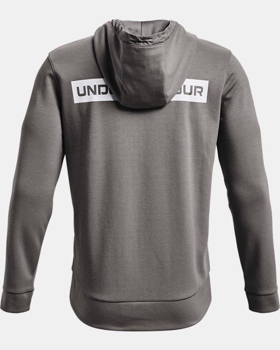 Men's UA Summit Knit Full-Zip Hoodie, Gray, pdpMainDesktop image number 4