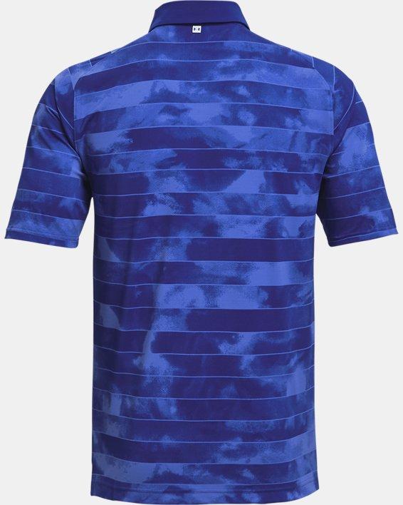 Men's UA Iso-Chill Fog Stripe Polo, Blue, pdpMainDesktop image number 5