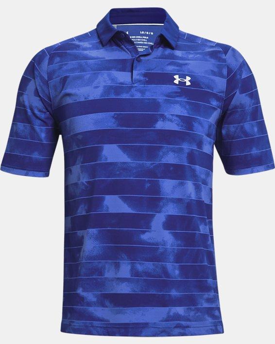 Men's UA Iso-Chill Fog Stripe Polo, Blue, pdpMainDesktop image number 4