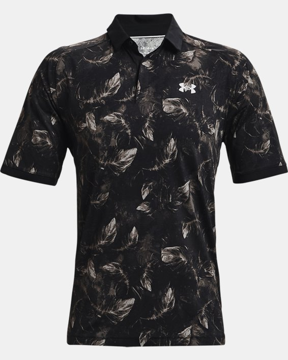 Men's UA Iso-Chill Feather Polo, Black, pdpMainDesktop image number 4