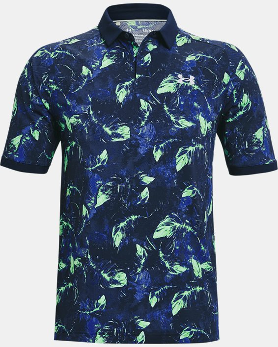 Men's UA Iso-Chill Feather Polo, Navy, pdpMainDesktop image number 3
