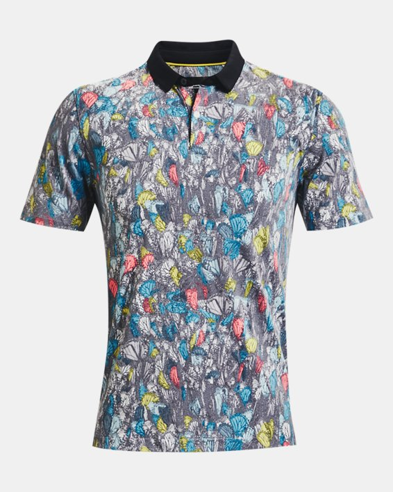 Men's Curry Monarch Migration Polo, White, pdpMainDesktop image number 4