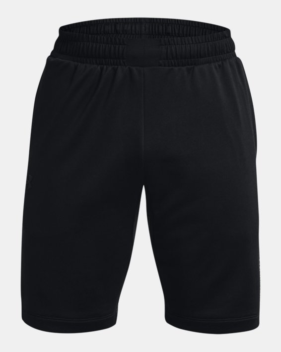 Men's UA Armour Terry Shorts, Black, pdpMainDesktop image number 4