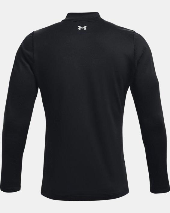 Men's ColdGear® Infrared Long Sleeve Golf Mock, Black, pdpMainDesktop image number 7