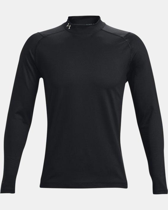 Men's ColdGear® Infrared Long Sleeve Golf Mock, Black, pdpMainDesktop image number 6
