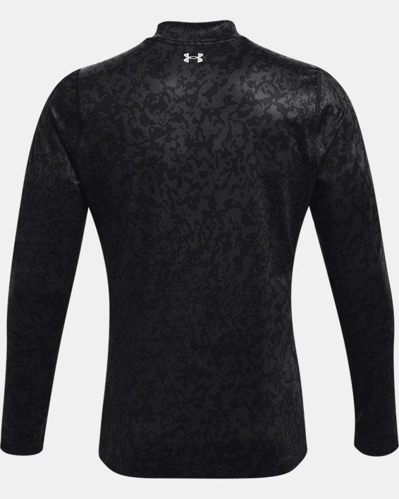 Men's ColdGear® Infrared Printed Long Sleeve Golf Mock, Gray, pdpMainDesktop image number 7