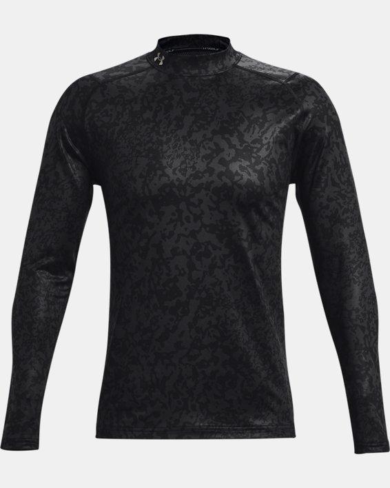 Men's ColdGear® Infrared Printed Long Sleeve Golf Mock, Gray, pdpMainDesktop image number 6
