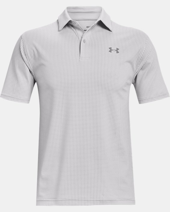 Men's UA T2G Printed Polo, Gray, pdpMainDesktop image number 3