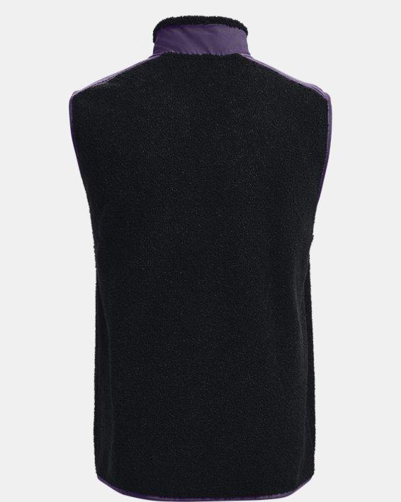 Men's UA SweaterFleece Pile Vest, Black, pdpMainDesktop image number 5