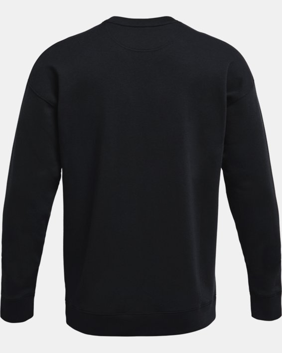 Men's UA Rival Fleece Alma Mater Crew, Black, pdpMainDesktop image number 5