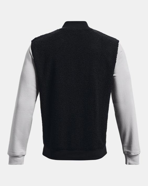 Men's UA Rival Fleece Alma Mater Bomber Jacket, Black, pdpMainDesktop image number 5