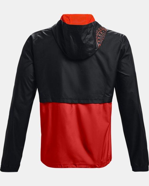 Men's UA Woven Alma Mater Anorak Jacket, Orange, pdpMainDesktop image number 8