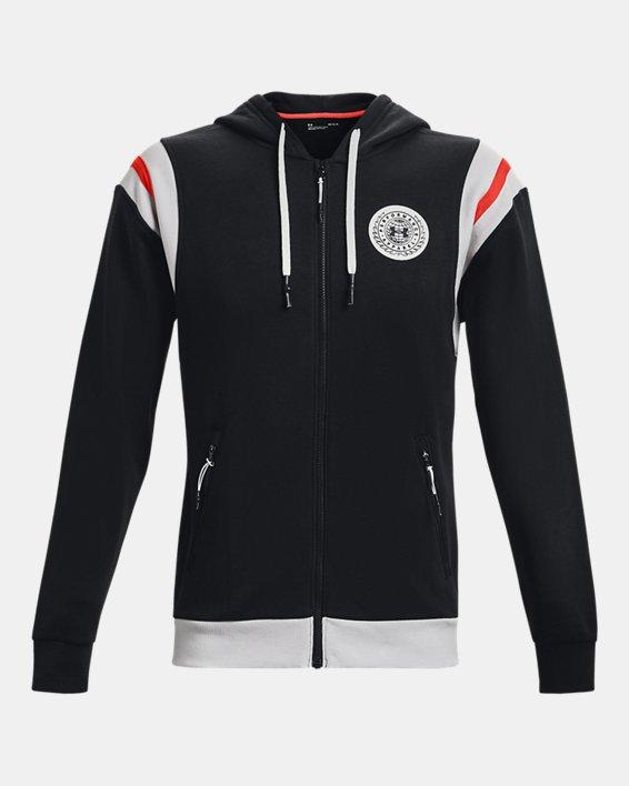 Men's UA Rival Fleece Alma Mater Full-Zip Hoodie, Black, pdpMainDesktop image number 4