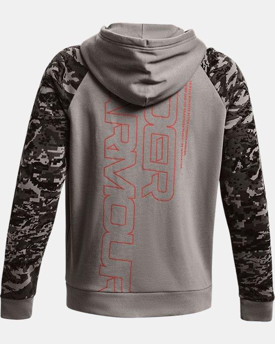 Men's UA Rival Fleece Camo Script Full-Zip, Gray, pdpMainDesktop image number 4