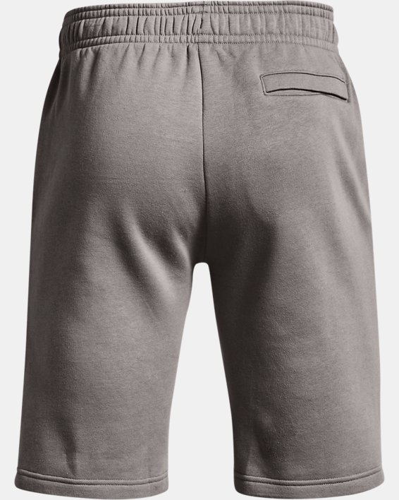 Men's UA Rival Fleece Camo Script Shorts, Gray, pdpMainDesktop image number 4