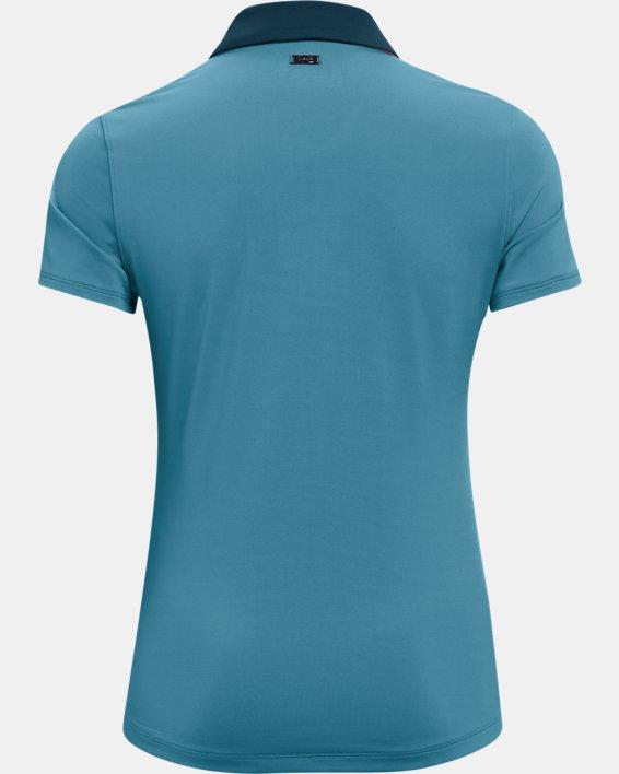 Polo UA Zinger Sleeve Stripe para mujer, Blue, pdpMainDesktop image number 5