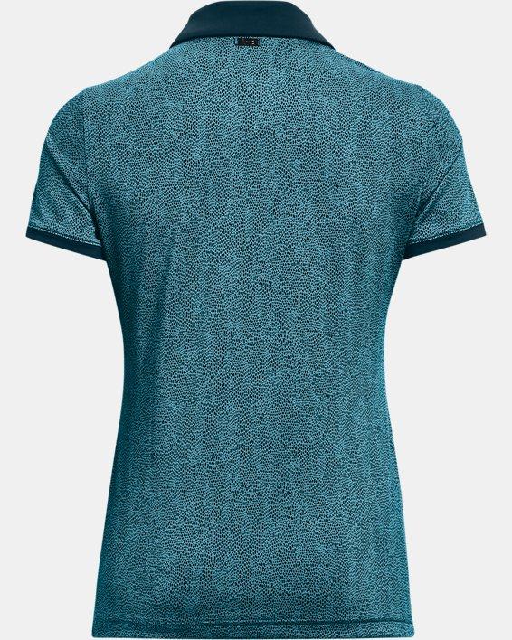 Women's UA Zinger Printed Short Sleeve Polo, Blue, pdpMainDesktop image number 5