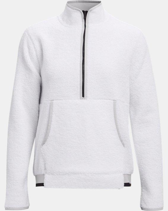 Women's UA Pile ½ Zip, White, pdpMainDesktop image number 4
