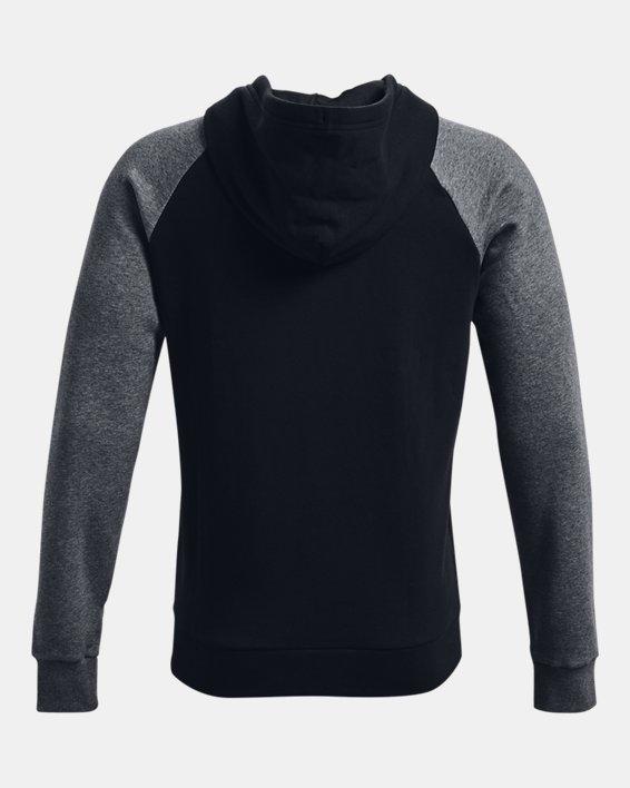 Men's UA Rival Fleece Colorblock Hoodie, Black, pdpMainDesktop image number 5