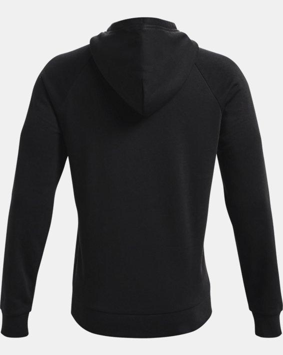Men's UA Rival Fleece Signature Box Hoodie, Black, pdpMainDesktop image number 5