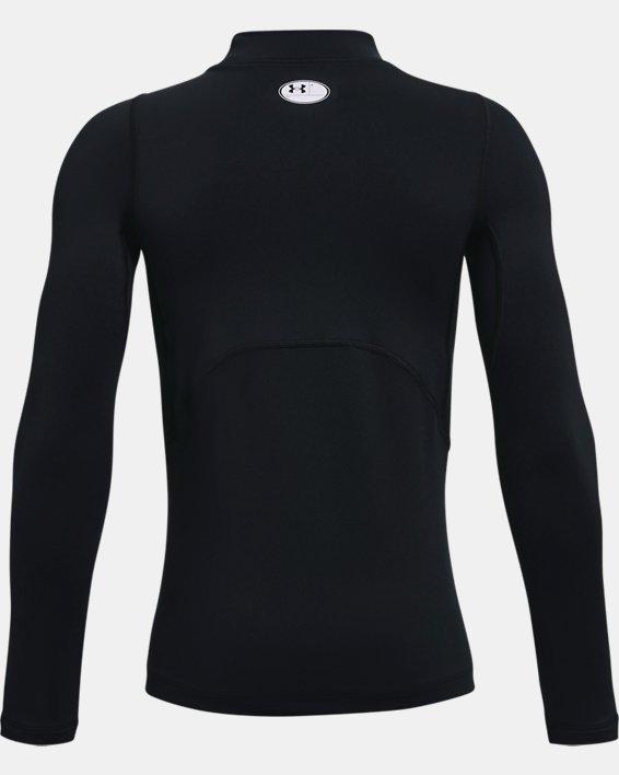 Boys' ColdGear® Armour Mock Long Sleeve, Black, pdpMainDesktop image number 1