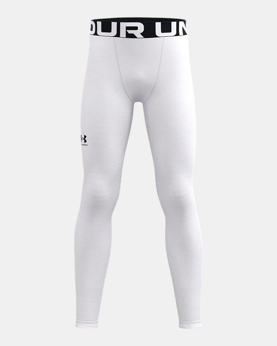 Jongenslegging ColdGear® Armour, White, pdpMainDesktop image number 0