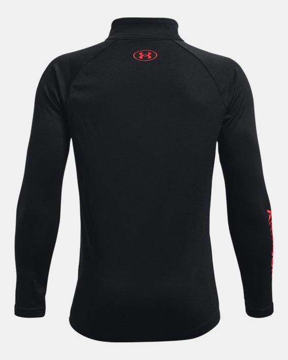 Boys' UA Tech™ Big Logo ½ Zip, Black, pdpMainDesktop image number 1