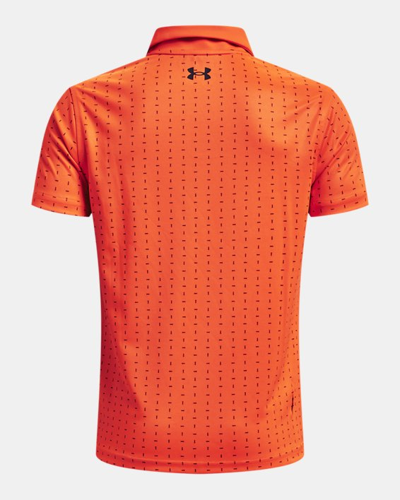 Boys' UA Performance Tee Box Polo, Orange, pdpMainDesktop image number 1