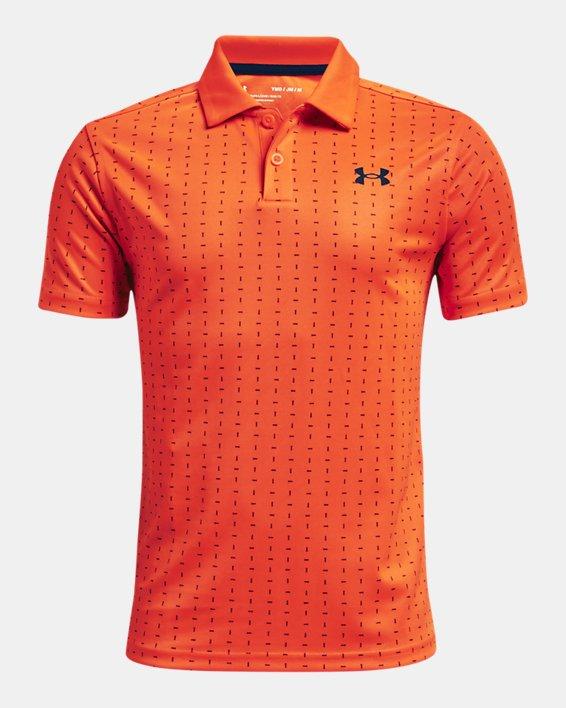 Boys' UA Performance Tee Box Polo, Orange, pdpMainDesktop image number 0